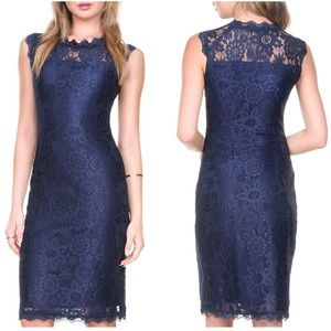 Dresses & Skirts - Navy Chantilly Lace Cocktail Sleeveless Dress